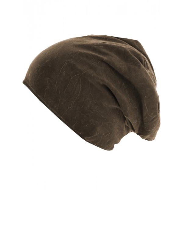 Top stone chocolade bruin - chemo mutsje / alopecia mutsje - EN