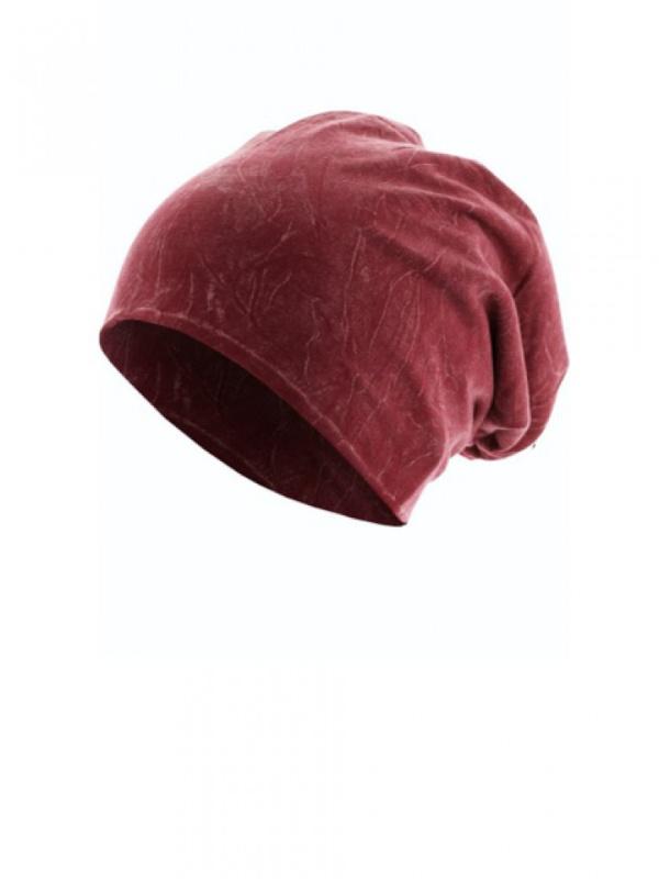 Top stone maroon - mutsje voor chemo of alopecia - EN