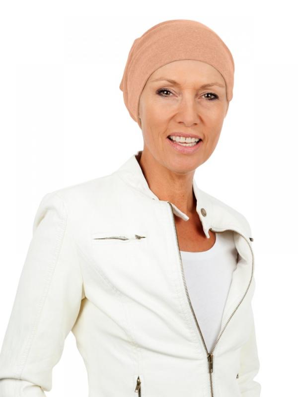 Slaapmutsje Cappuccino - chemo mutsje / alopecia mutsje - EN