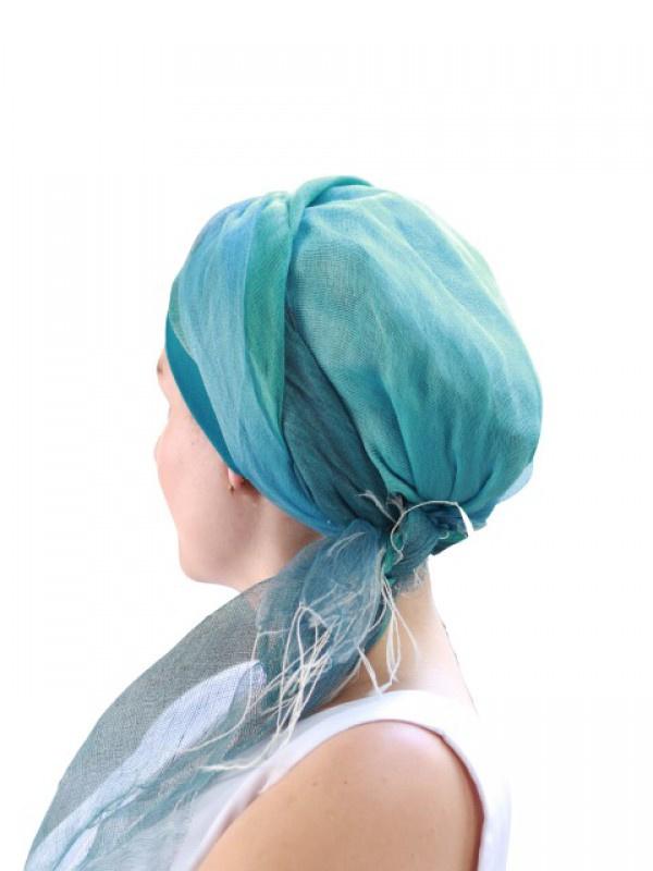 Scarf-band Ocean - chemo scarf / alopecia scarf