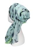 Scarf-band Sofia blue - chemo scarf / alopecia scarf