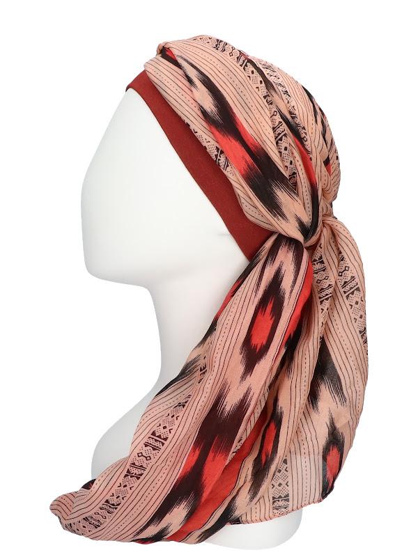 Scarf-band Sofia Red - chemo scarf / alopecia scarf