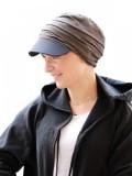 Pet Diane Brown/Black - chemo mutsje / alopecia mutsje - EN