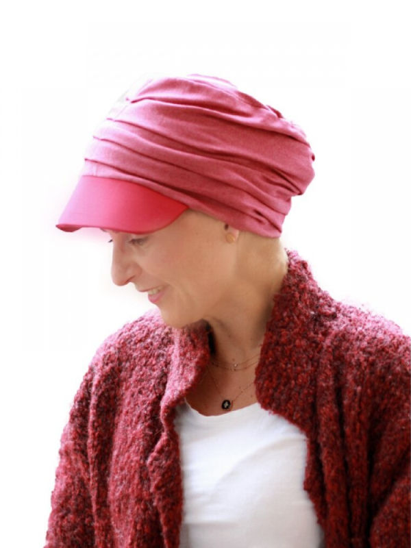Pet Diane Rood - chemo mutsje / alopecia mutsje - EN