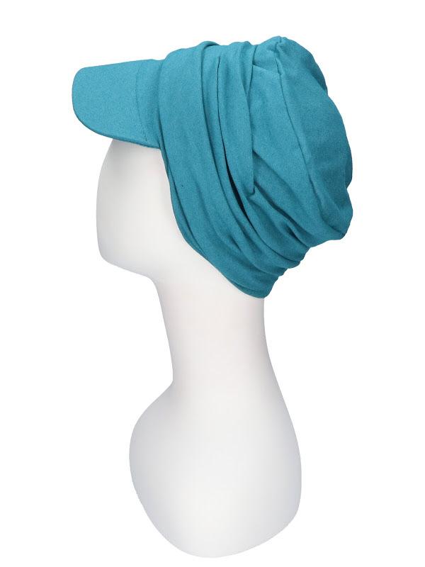 Cap Diane Petrol - chemo hat / alopecia headwear