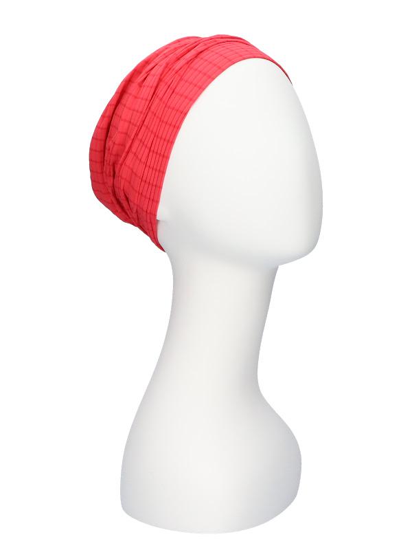 Comfortable hat Iris Fantasy Pink- chemo hat / alopecia hat