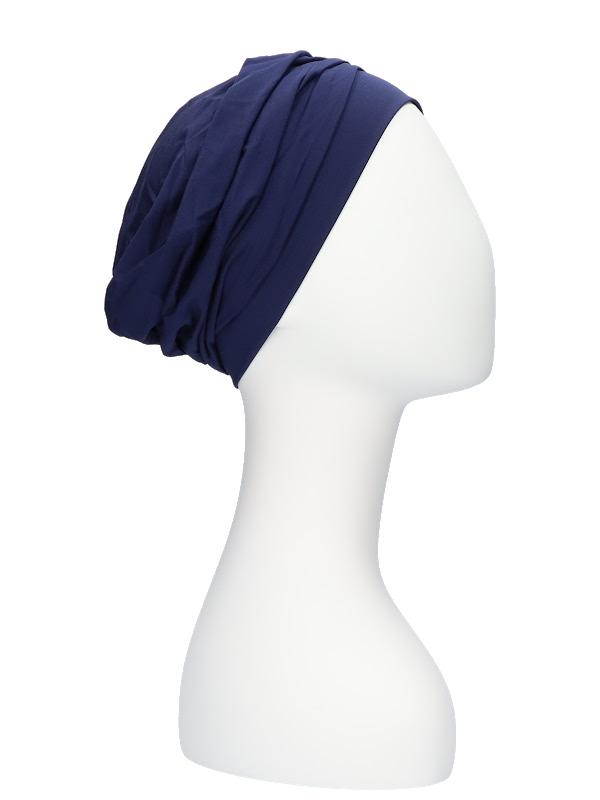 Comfortable Hat Iris Navy - chemo cap / Alopecia hat