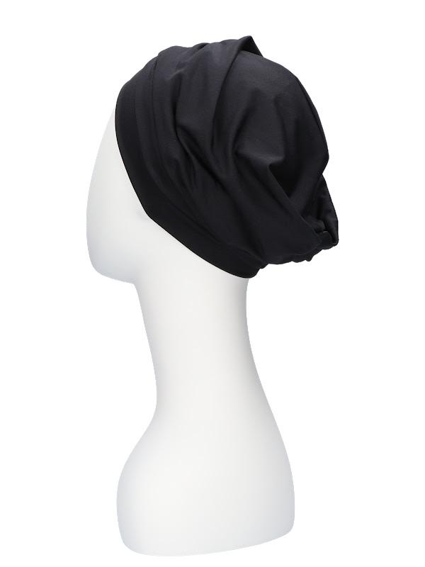 Comfortable hat Iris Black - cancer hat / alopecia hat