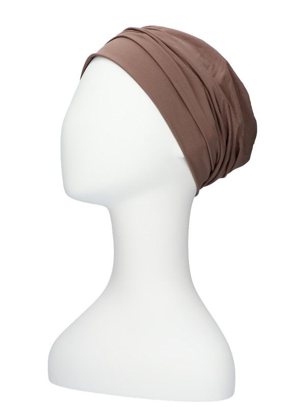 Comfortable hat Iris Taupe - chemo hat / alopecia hat