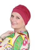 Comfortable hat Iris Raspberry - chemo hat / alopecia hat