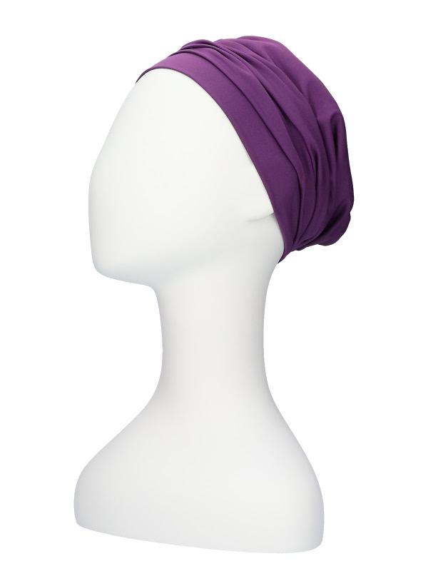 Comfortable hat Iris Purple - chemo hat / alopecia hat