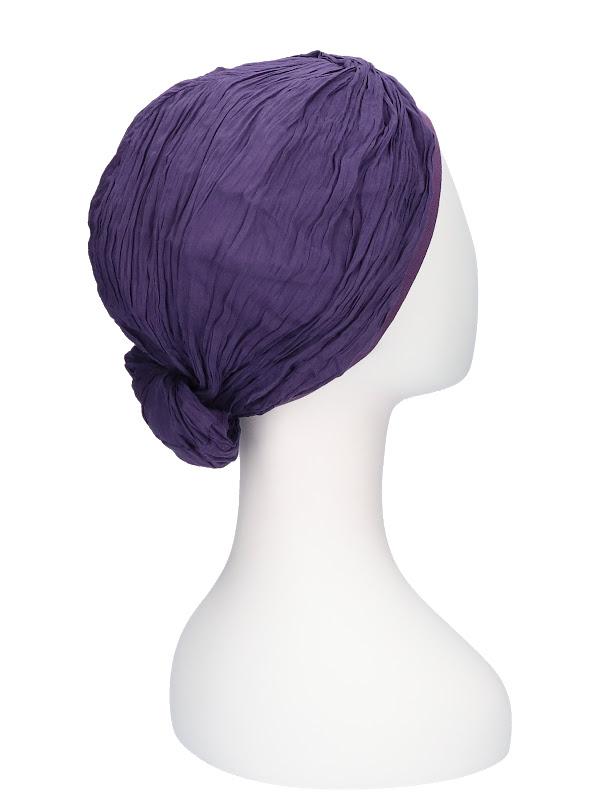 Top Mano purple- chemo hat / chemo scarf