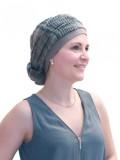 Top Mano print grey - chemo hat / alopecia hat