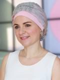 Top Mano print roze - chemo mutsje / alopecia mutsje - EN