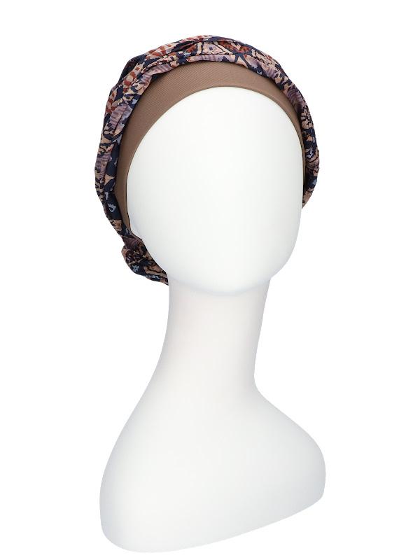 Top Mano Print Brown - chemo hat / alopecia hat