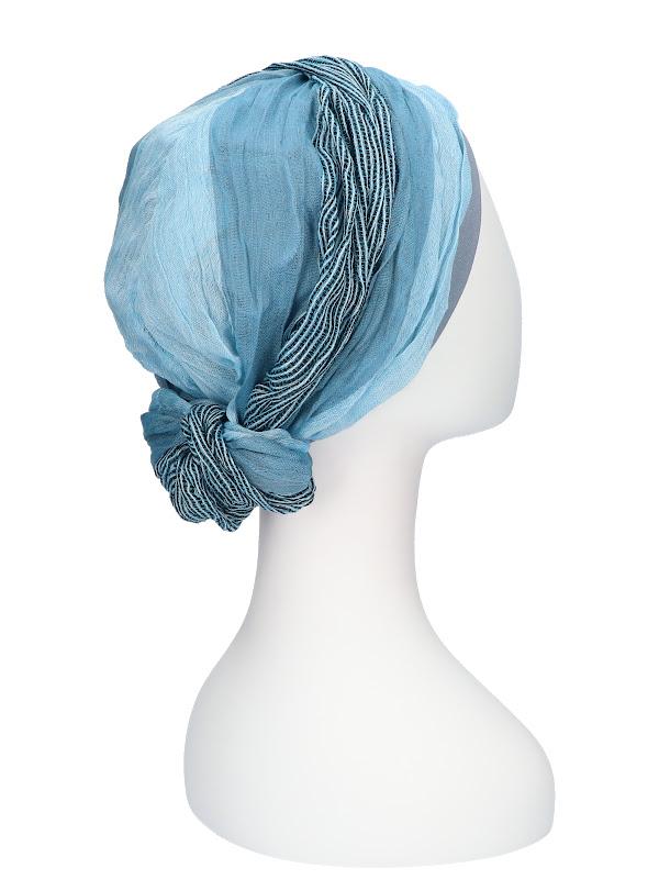 Top Mano Ocean Stripes - chemo hat / alopecia hat