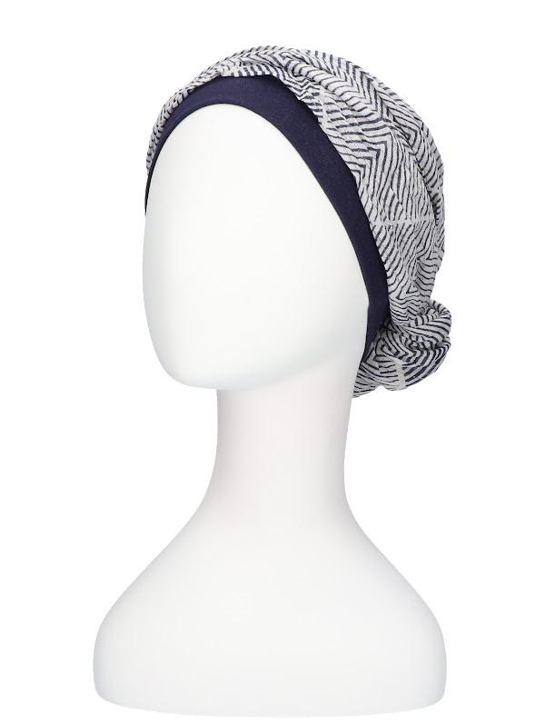 Top Mano navy white - chemo hat / alopecia headwear