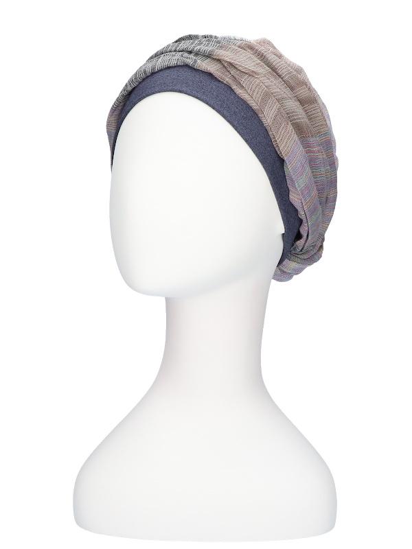 Top Mano print jeans - chemo hat / alopecia hat
