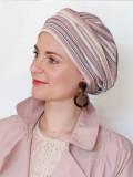 Hat Maya pink/red - chemotherapy headwear / alopecia hat