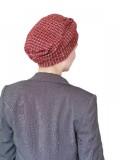 Hat Maya red - cancer hat / alopecia headwear