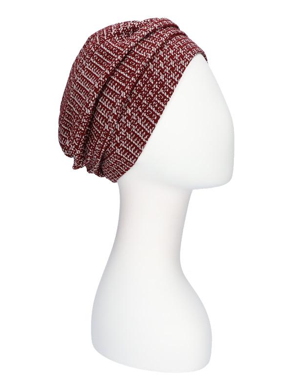 Hat Maya red - chemo hat / alopecia headwear