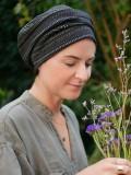 Hat Maya black pattern - chemo hat / alopecia hat