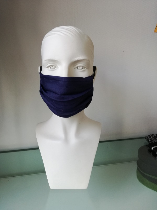 facemask dark blue buy now at My Headwear, specilised in chemo hats and cosmetics