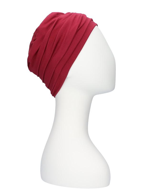 Top Noa Red - chemo hats Lookhatme / alopecia headwear