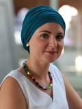 Top Noa turquoise - chemo mutsje / alopecia mutsje