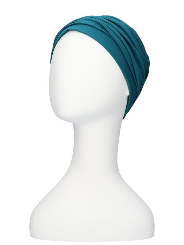 Top Noa turquoise - cancer hat / alopecia hat