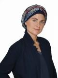 Scarf-hat New Delhi Fantasy multi B - chemo headscarf / alopecia scarf