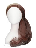 Scarf-hat Brown - chemo headscarf