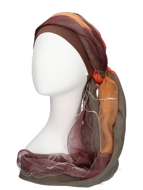 Scarf-hat Tania Autumn - chemo headscarf