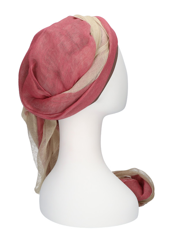 Scarf-hat Pink - chemo scarf / alopecia scarf