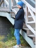 Muts Tili blauw Kashmir - winter chemo muts / alopecia muts - EN