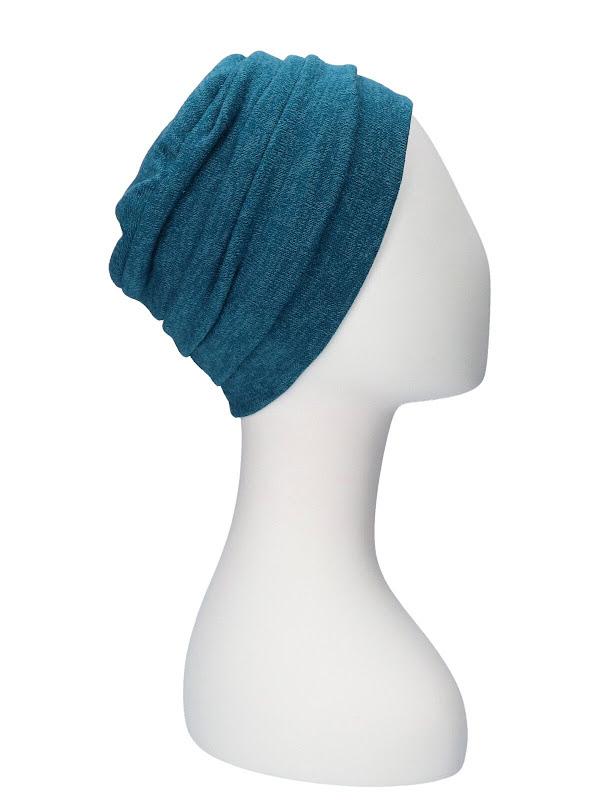 Hat Sasha Petrol - chemo hat / alopecia headwear