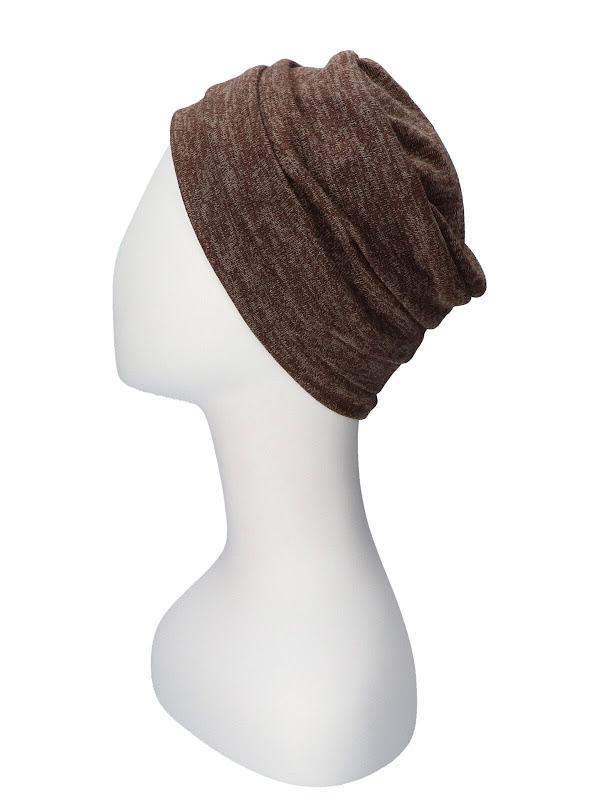 Hat Sasha Brown - chemo hat / alopecia headwear