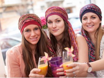 Scarf-bands for hair loss during chemotherapy or other medical conditions