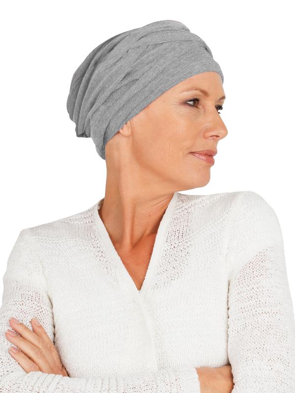 Top PLUS grey melange - cancer hat / alopecia hat