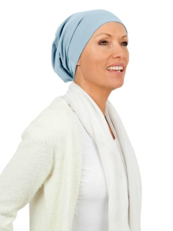 Top Tio lightblue - chemo hat / alopecia headwear