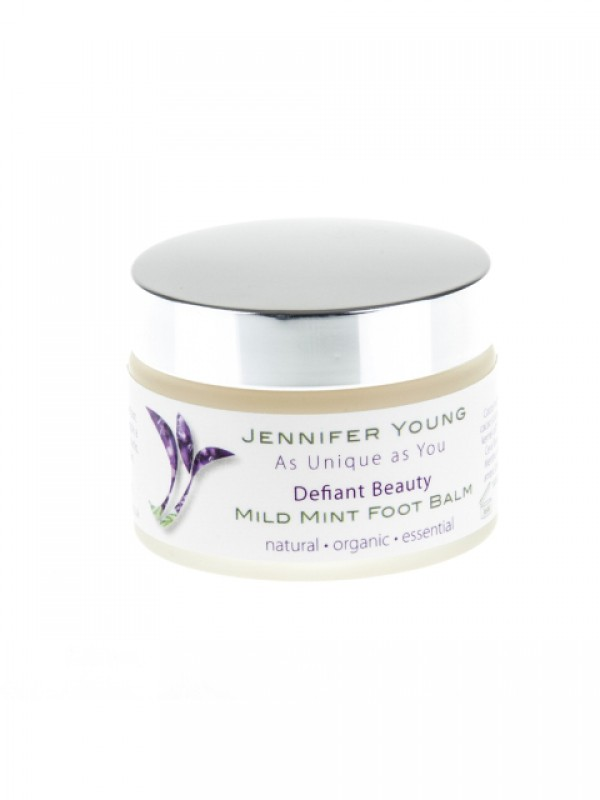 Defiant Beauty Mild Mint Foot balm - buy now at My Headwear, specilised in chemo hats and cosmetics