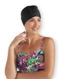 Swim cap black by My Headwear specialist in chemo hats