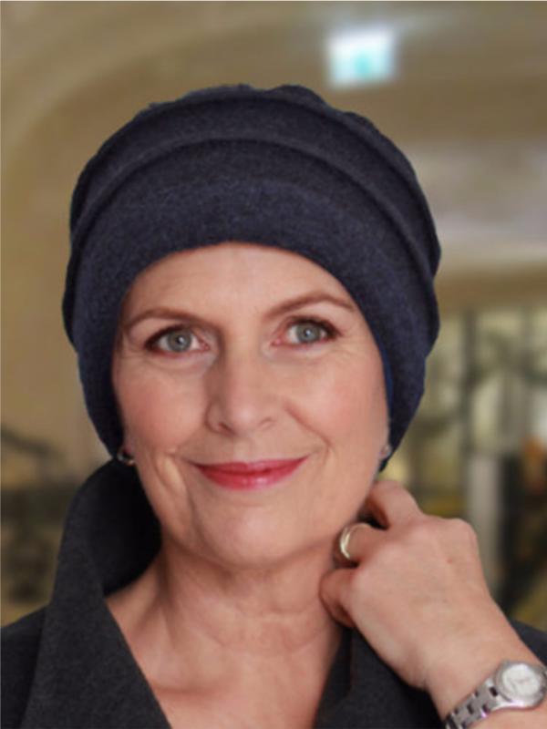 Hat Zoë Blue - chemo headwear (winter)